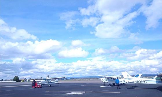 パイロット資格コースの2期生、渡米準備4