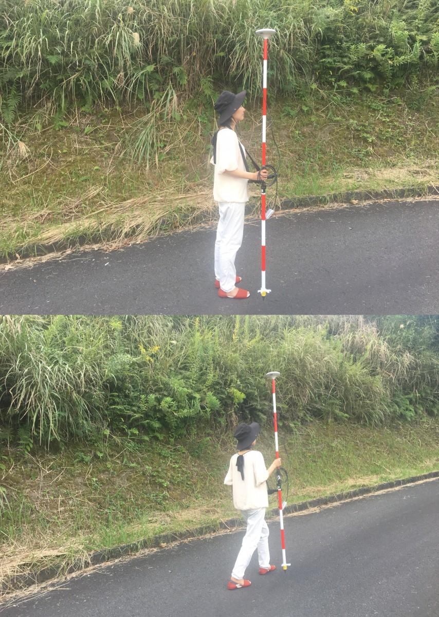 RTK-GNSS 計測の様子
